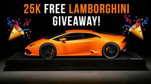 free lamborghini giveaway