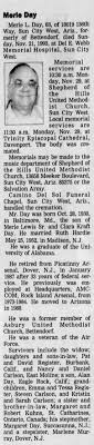 Obituary for Merle L. Day, 1930-1993 (Aged 63) - Newspapers.com