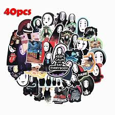 40pcs No Face Man Spirited Away Stickers Decal For For Snowboard Laptop Luggage Car Fridge Car Styling Sticker Pegatina Stickers Aliexpress