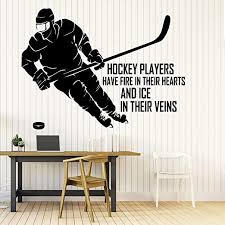 Amazon Com 22 X 30 In Ice Hockey Wall Decal Club Team Player Sports Wall Decal Sticker Your Custom Name Personalised Decor For Boys Kids Room Bedroom Inspirational Motivational Art Poster