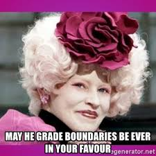 May he grade boundaries be ever in your favour - hunger games effie | Meme  Generator