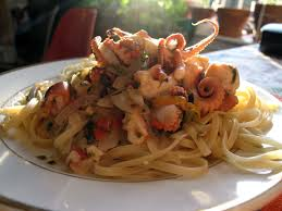 Seafood Delight: Linguine with Octopus ...
