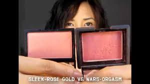 pare sleek makeup vs nars blush