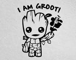 Groot Car Decal Etsy