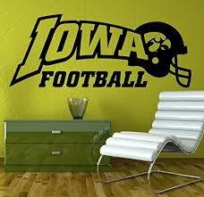 Amazon Com Wall Decal Sticker Iowa Hawkeyes Ncaa College Football Home Interior Removable Decor 20 High X Wall Decal Sticker Wall Decals Nursery Wall Decals