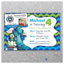 Monsters University Invitacion De Fiesta Por Letrapapel En Etsy