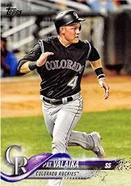 Amazon.com: 2018 Topps #112 Pat Valaika Colorado Rockies Baseball ...