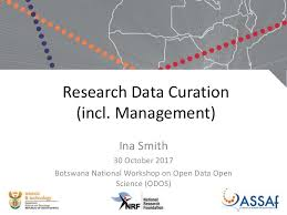 Research Data Curation (incl. Management)/Ina Smith