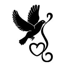 10 1cm 14 3cm Dove Bird Love Heart Fashion Car Sticker Decor Vinyl Decal Black Silver S3 7007 Car Stickers Decoration Vinyl Decalvinyl Car Decal Aliexpress