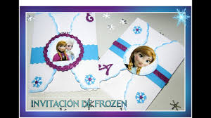 Invitacion De Frozen Youtube
