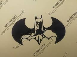 Dc Batman Logo With Face Silhouette Adhesive Vinyl Decal For Etsy