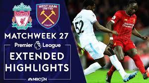 Liverpool v. West Ham United | PREMIER LEAGUE HIGHLIGHTS