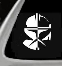Clone Trooper Star Wars Car Truck Notebook Vinyl Decal Sticker 2495 Vinyl Color White Vinyl Decal Stickers Clone Trooper Vinyl Decals