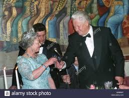 Queen Elizabeth II on visit to Russia, 1994 Stock Photo: 30979700 ...
