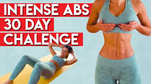 INTENSE ABS in 30 Days CHALLENGE 🔥 | Day 1 - YouTube