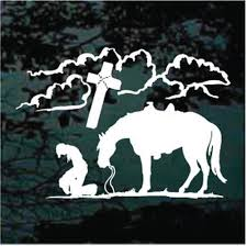 Praying Cowboy Cowgirl Car Decals Stickers Decal Junky