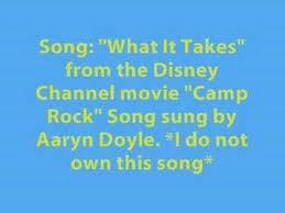 Camp Rock-What It Takes(Aaryn Doyle) *LYRICS IN DESCRIPTION ...