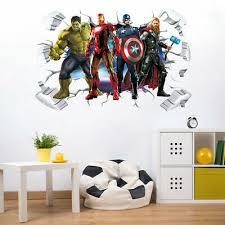 Superhero Wall Sticker Batman Superman Vinyl Decals Kids Boys Bedroom Wall Decor 10 99 Picclick
