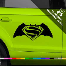 50 Off Batman Vs Superman Car Vinyl Decal Superhero Etsy