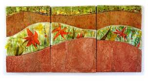 Fused glass and handmade paper by Priscilla Robinson | Glass ...