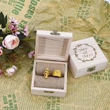 wooden ring box wedding decor rustic