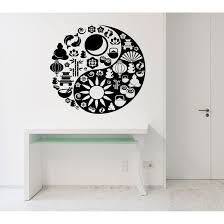 Shop Mantra Yoga Buddhism India Mandala Good And Evil Wall Art Sticker Decal Overstock 11701999