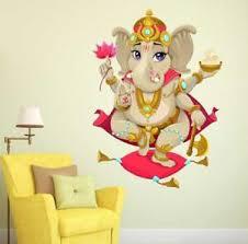 Lord Ganesha Wall Sticker Art Vinyl Decal Mural For Home Room Decor Ebay