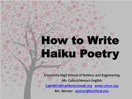 ppt how to write haiku poetry