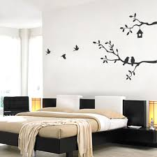 Birds And Branches Wall Decal Black Large Walmart Com Walmart Com