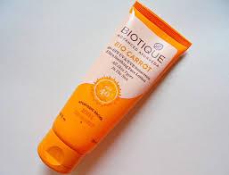 biotique bio carrot sunscreen lotion review