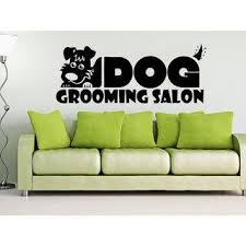 Shop Dog Wall Decals Grooming Salon Decal Vinyl Sticker Pet Shop Animals Sticker Decal Size 33x52 Color Black On Sale Overstock 14032097