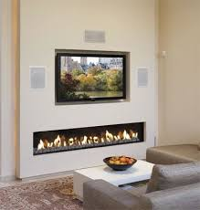 gas fireplace built in open hearth