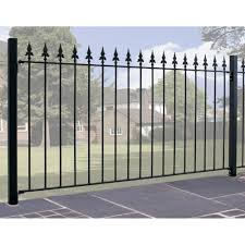 Saxon Spear Top Metal Fence Fencing Panel 950mm High Burbage Iron Craft