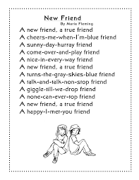friendship poem for new friends