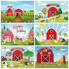 Laeacco Photo Background Baby Cartoon Rural Farm Filed Windmill Birthday Wooden Fence Poster Photographic Backdrops Photo Studio Background Aliexpress