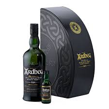 ardbeg 10 years whisky pack in gift box