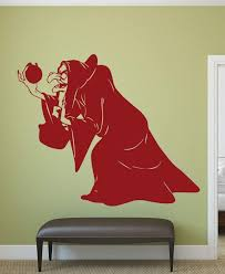 Amazon Com Wicked Witch Wall Decal Snow White Evil Queen With Poisoned Apple Vinyl Wall Decoration Handmade
