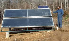 diy pv pumped solar water heating system