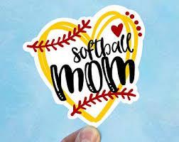 Softball Mom Decal Etsy