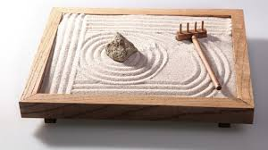 stressed at work a zen garden might be