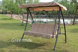 patio furniture three seat swing chair
