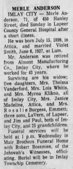 Klikna, Myrna Anderson Death of Father - Newspapers.com
