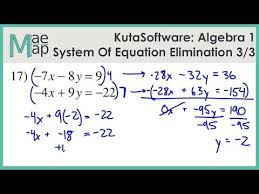 system of equations elimination part