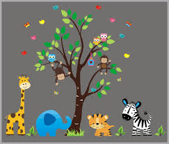 Reusable And Removable Wall Decals Safari Kids Room Stickers Nurserydecals4you