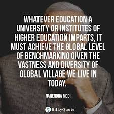 narendra modi quotes whatever education a university or
