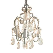 white diamond mini chandelier cchapl010