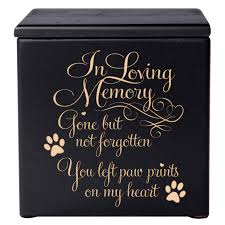 pet cremation urn in loving memory