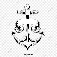 Kreskowki Kotwicy Tatuazu Reka Rysujaca Czarny I Bialy Ilustracja