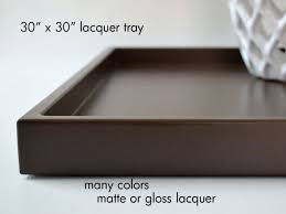 30 x 30 extra large square ottoman tray