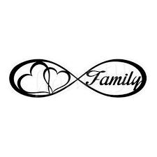 2pcs Love Family Window Door Car Sticker Laptop Truck Vinyl Black Decal Stickers Gift Wish In 2020 Laptop Stickers Infinity Tattoo Tattoos